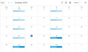 Fasting Day Twice Per Week